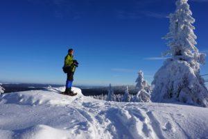 Der Fotograf im Schnee