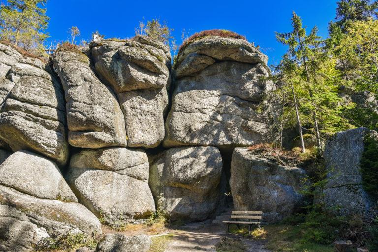 Weissmainsfelsen Felsblöcke im Fichtelgebirge Ochsenkopf